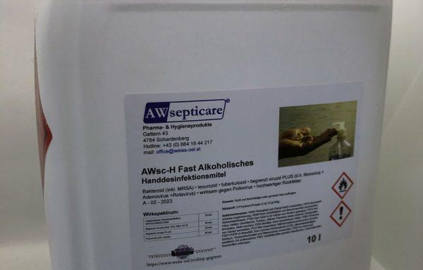 AWsc-H Fast Alkoholisches Handdesinfektionsmittel 10 l