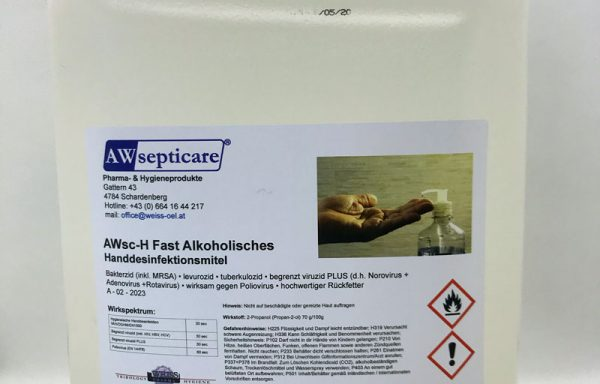 AWsc-H Fast Alkoholisches Handdesinfektionsmittel 5 l