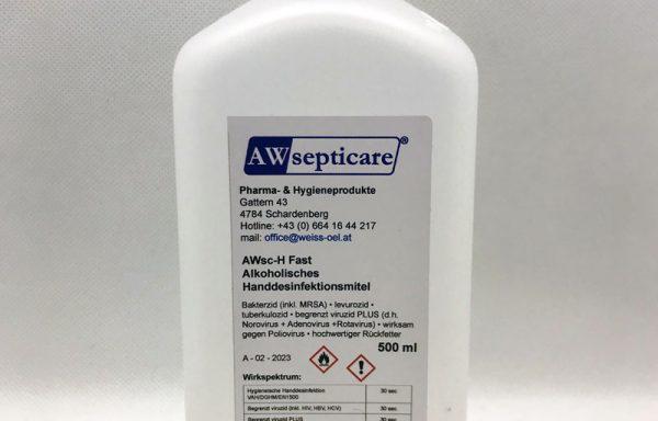 AWsc-H Fast Alkoholisches Handdesinfektionsmittel 500 ml